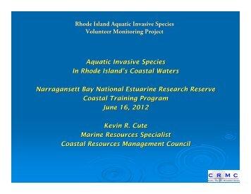 Aquatic Invasive Species in Rhode Island's Coastal Waters