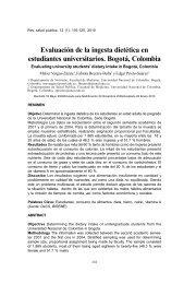 Evaluación de la ingesta dietética en estudiantes universitarios ...