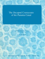 The Decapod Crustaceans of the Panama Canal - Smithsonian ...