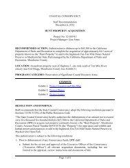 Hunt Property - California Coastal Conservancy