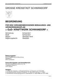 UND GRÜNORDNUNGSPLAN > GuD ... - Stadt Schwandorf