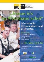 Schwandorfer Wirtshauslieder und -geschichten - Stadt Schwandorf