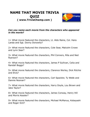 Horror Movie trivia Questions And Answers printable Publisher