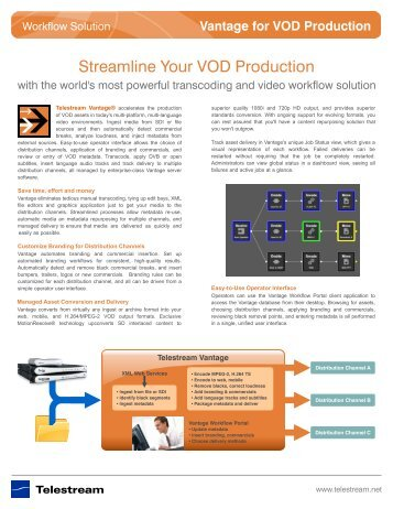 Vantage for VOD Production - Telestream
