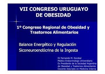 Regulación Psiconeuroendócrina de la Ingesta, Dr. Escobar