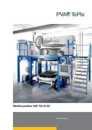 datasheet - MultiCrystallizer VGF 732 Si HC - PVA TePla AG
