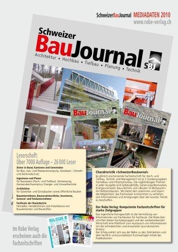 MEDIADATEN 2010 - Robe Verlag AG