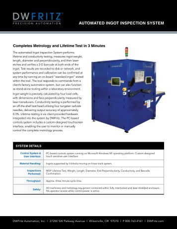 Automated Ingot Inspection System.pdf - DWFritz Automation