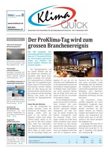 Der ProKlima-Tag wird zum grossen ... - Robe Verlag AG