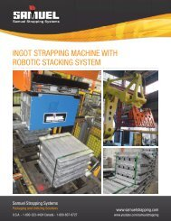 ingot strapping machine with robotic stacking system - Samuel ...