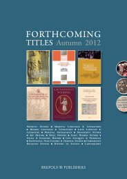 Catalogue Forthcoming Titles Autumn 2012 - Brepols Publishers