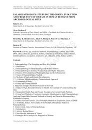 palaeopathology: studying the origin, evolution and ... - eolss