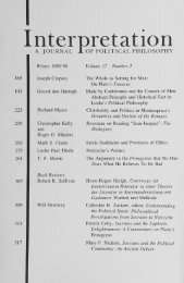 Christianity and Politics in Catherine H. Zuckert ... - Interpretation