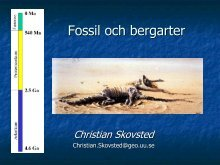 metoder för datering av fossil och stenar