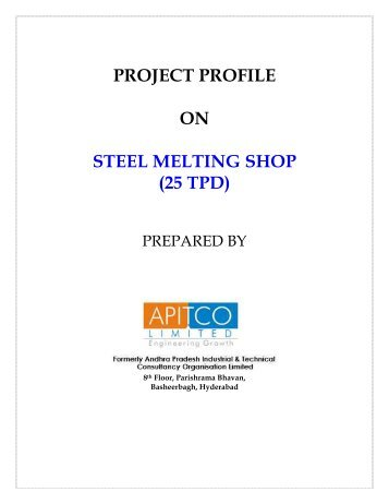 project profile on steel melting shop
