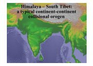 Himalaya – South Tibet - structural geology @ ETH Zurich