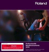 Professionelle Musikinstrumente 2010 - Roellinmusic