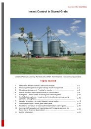 Insect Control in Stored Grain - Department of Primary Industries