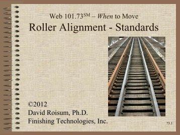 Roller Alignment - Standards - WebHandling.com
