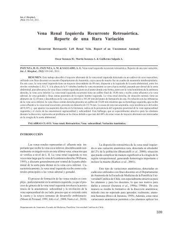 Vena Renal Izquierda Recurrente Retroaórtica. Reporte de ... - SciELO