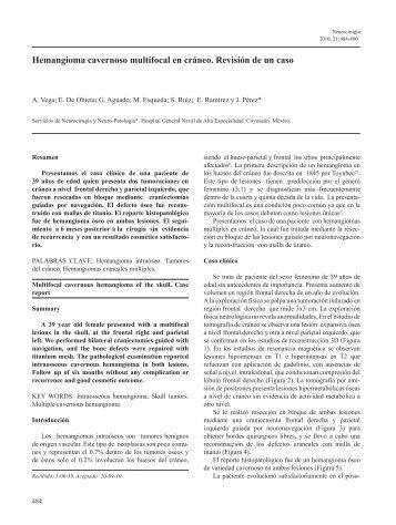 Hemangioma cavernoso multifocal en cráneo. Revisión de un caso