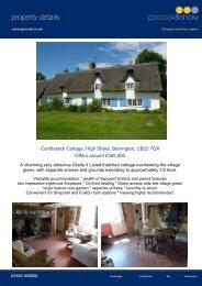 Candlestick Cottage, High Street, Barrington, CB22 7QX Candlestick ...