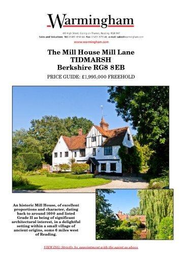 The Mill House Mill Lane TIDMARSH Berkshire RG8 ... - Warmingham