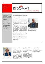 Verkauf / Vermietung - Ridoma AG