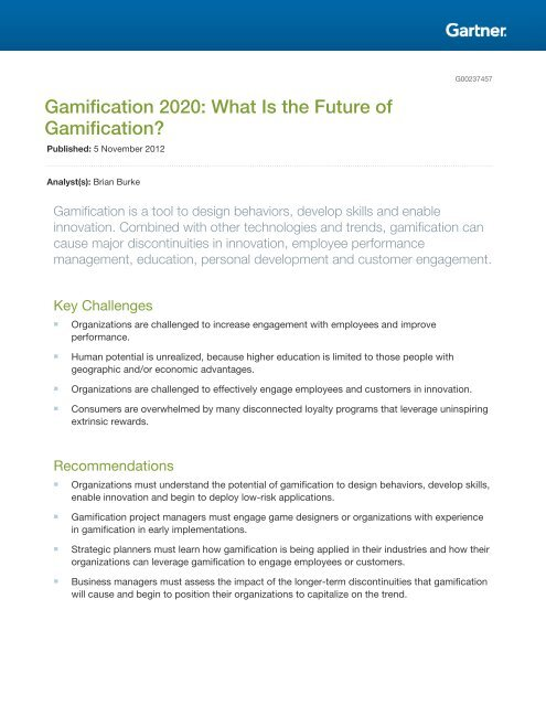Gamification 2020: What Is the Future of Gamification?