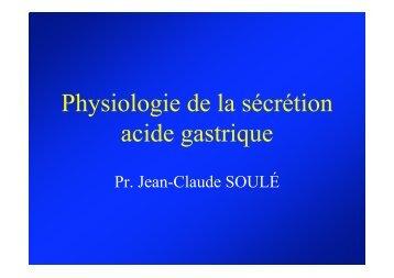 Physiologie de la sécrétion acide gastrique - Hepato Web