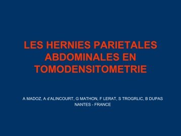 les hernies parietales abdominales en tomodensitometrie
