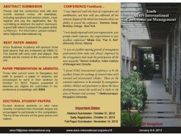Brochure - AIMS International