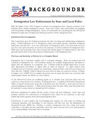 Immigration Law Enforcement by State and Local Police - National ...