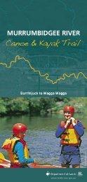 Murrumbidgee River Canoe & Kayak Trail map kit - Land