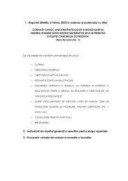 1. Raportul Stiintific si Tehnic (RST) in extenso al proiectului cu titlul ...