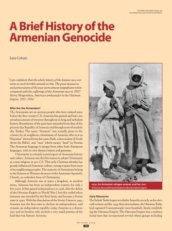an introduction to the history of armenian genocide
