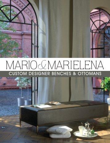 custom designer benches & ottomans - Mario & Marielena