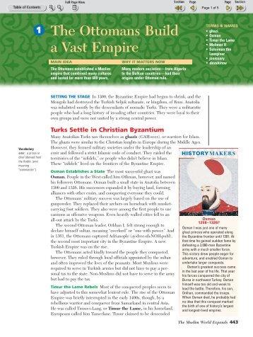 The Ottomans Build a Vast Empire - Chavez Social Studies