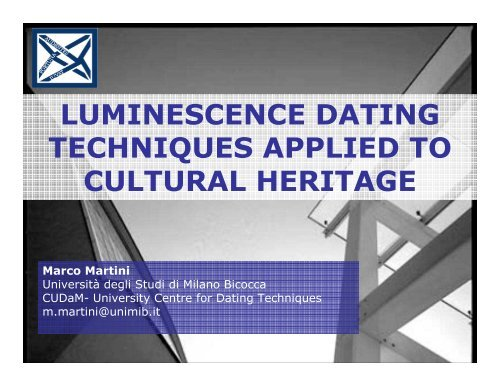 termoluminescens dating service hvad skal du sætte på et dating site overskrift