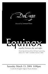 program - March 13th Equinox.pdf - DaCapo Chamber Choir