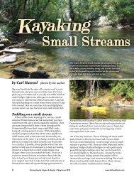 Kayaking Small Streams in PA - Pennsylvania Fish and Boat ...