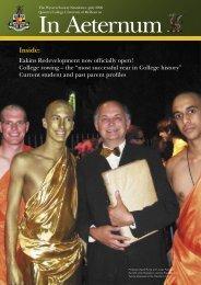 In Aeternum, July 2009 Download PDF - Queen's College ...