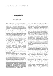 93 The Nightmare - Archives of Psychiatry and Psychotherapy ...