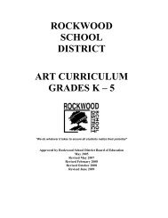 Elementary Art Curriculum - Rockwood School District