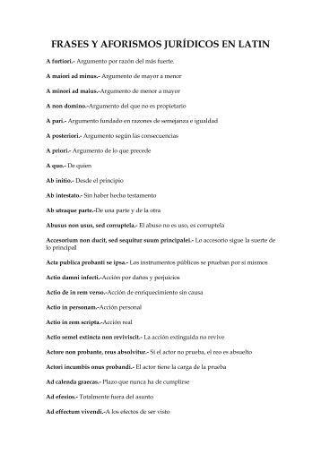 frases y aforismos jurídicos en latin - Revista Pensamiento Penal
