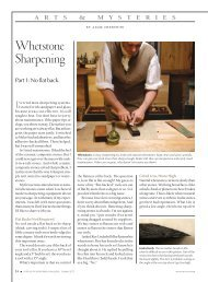 Whetstone sharpening (PDF) - Popular Woodworking Magazine