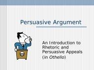 Persuasive Rhetoric PowerPoint - Palatine High School