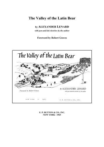 The Valley of the Latin Bear - MEK