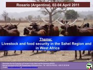 Livestock and food security in the Sahel Region - LiFLoD