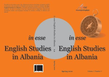 English Studies in Albania English Studies in Albania - Albanian ...